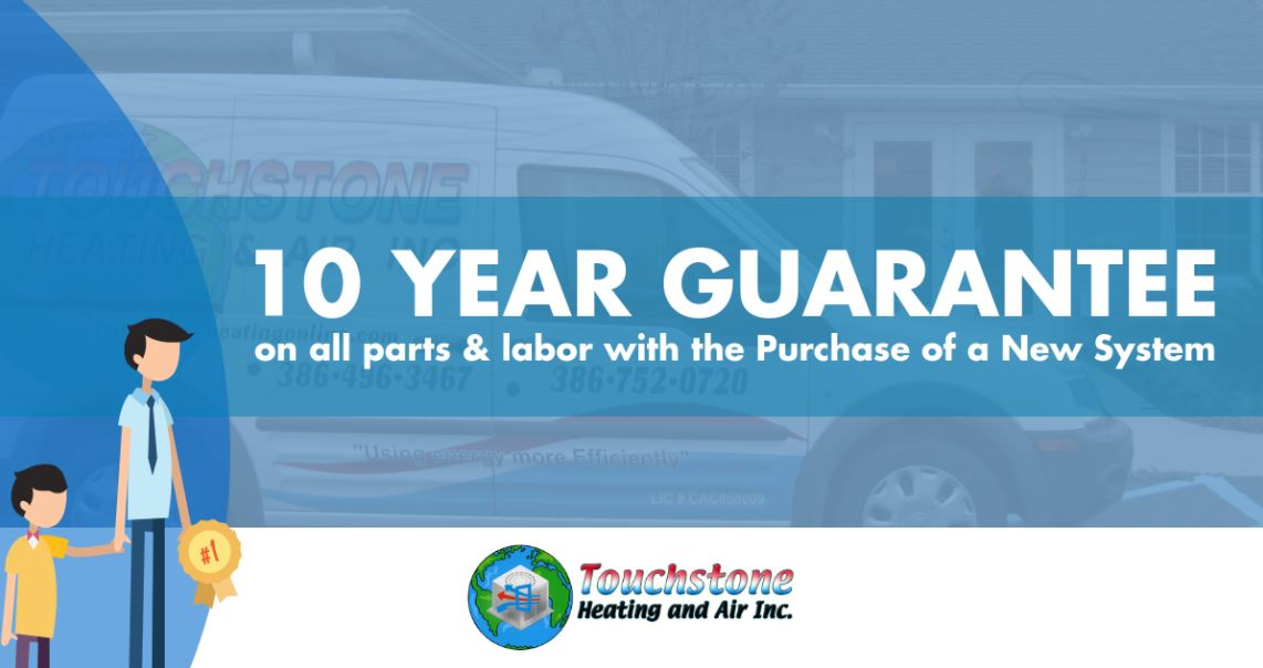 10 year guarantee on hvac systems