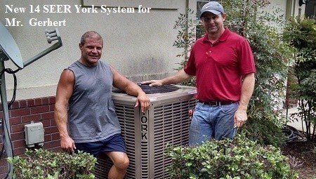 New 14 SEER York System for Mr. Gerhart