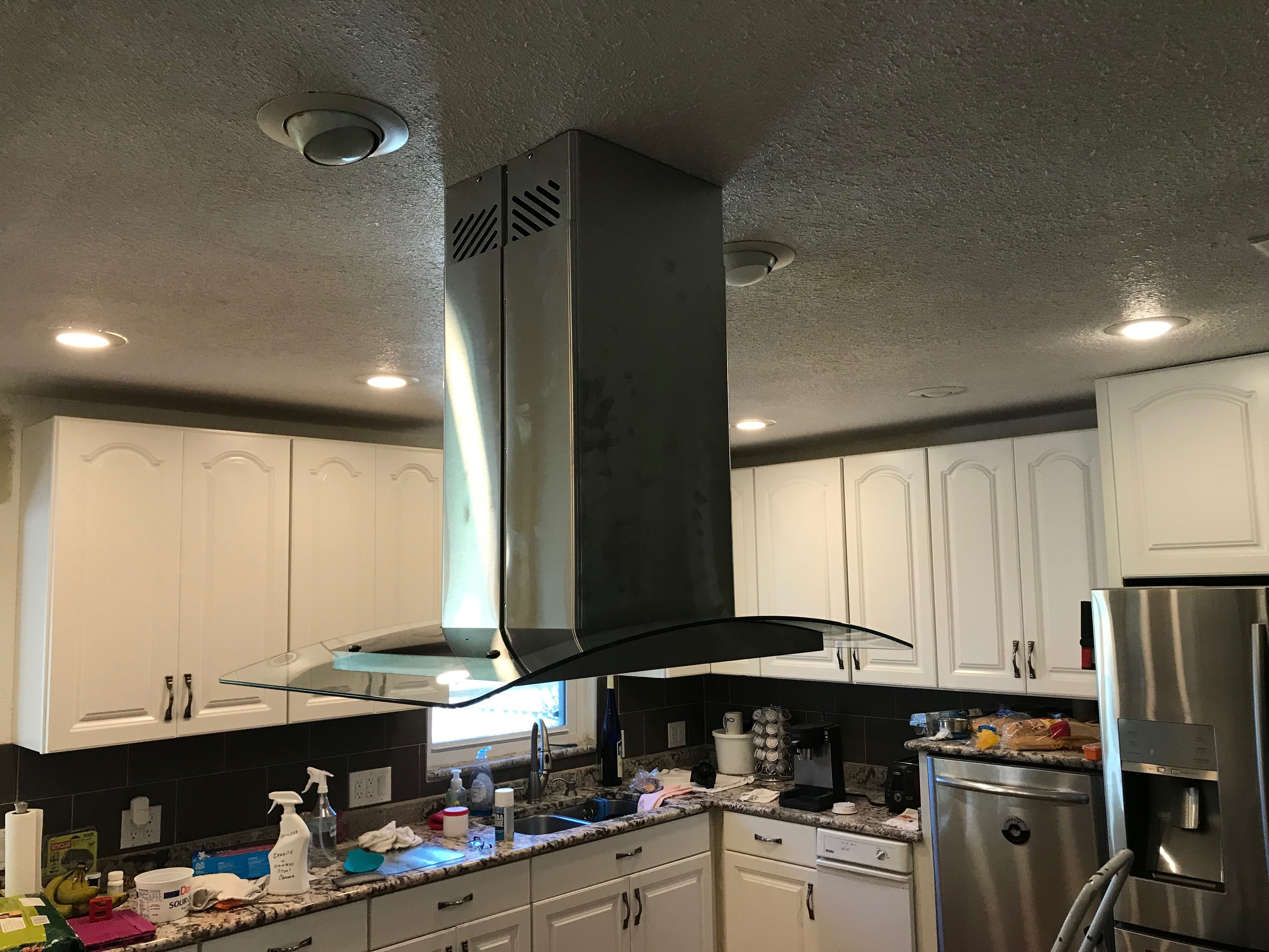 Installation of new range hood complete